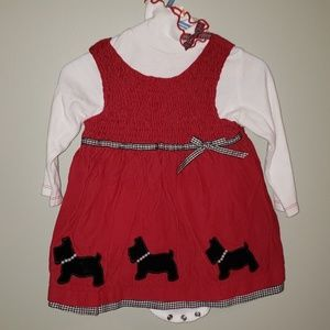 Other - Cute scottie dog dress and turtleneck